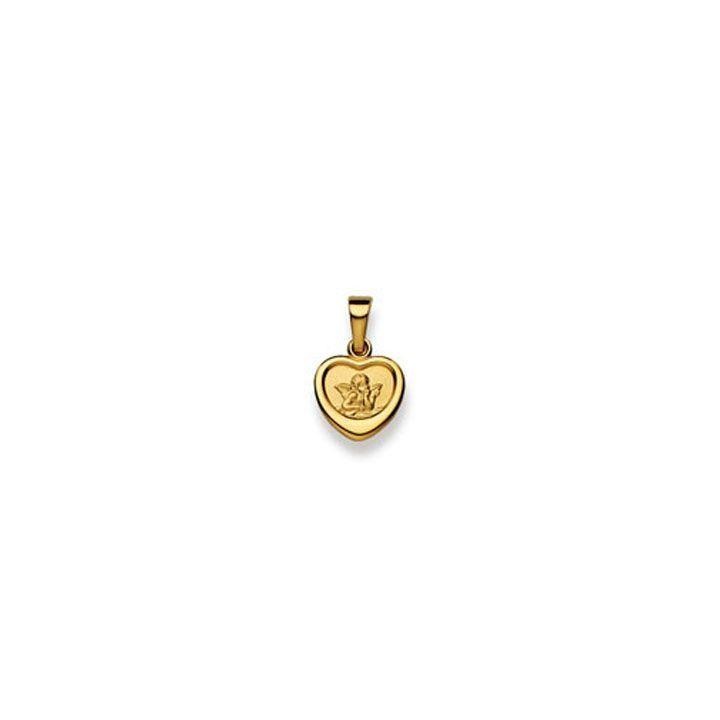Goldschmuck Anhänger Schutzengel 750 Gelbgold