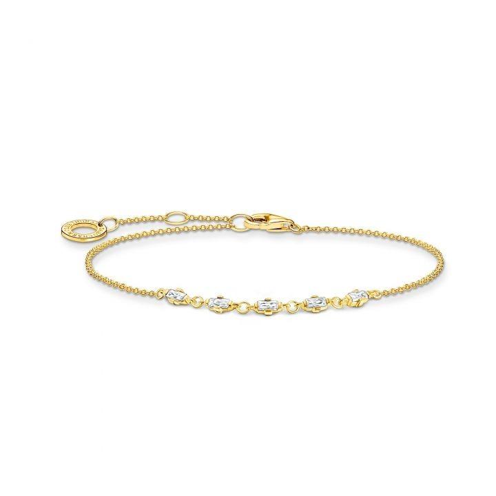 Thomas Sabo Armband Weisse Steine Gold
