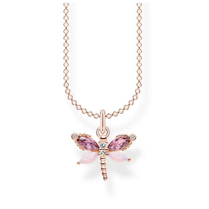 Thomas Sabo Kette Schmetterling Vergoldet