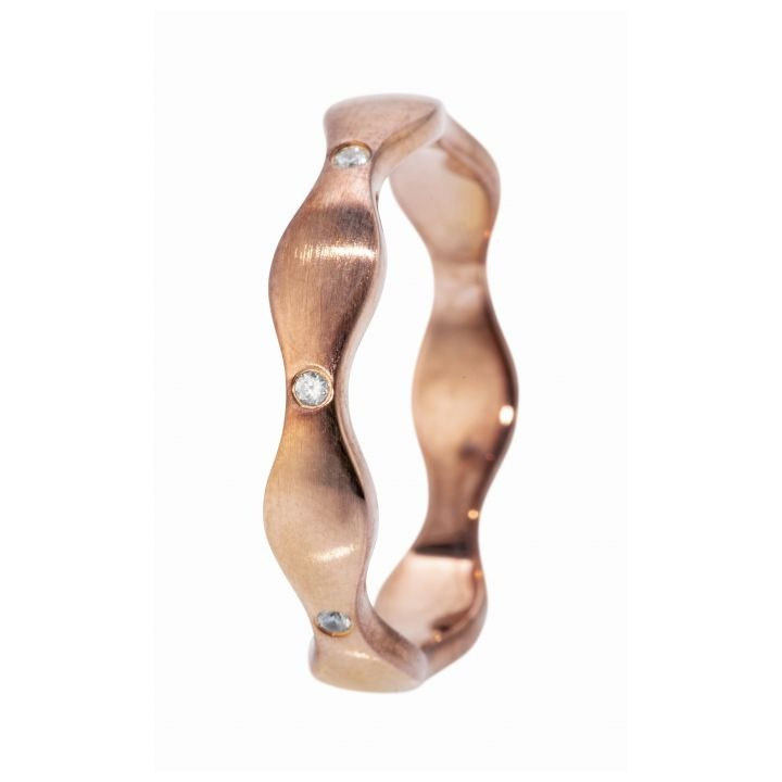 veto Collect Ring 4mm Stahl rosé Zirkonia