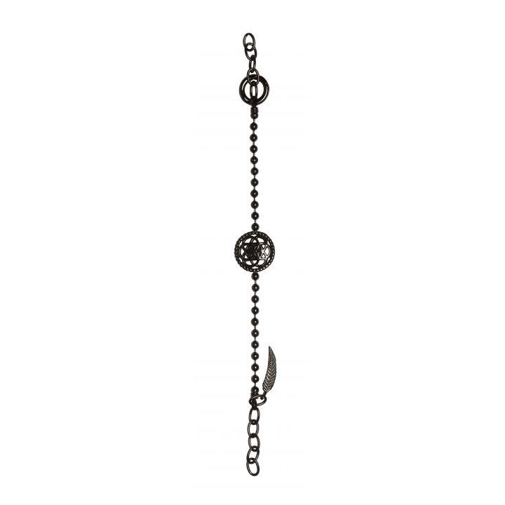 Traumfänger Arm- und Fusskette Blume Schwarz