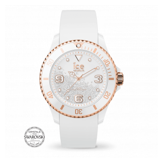 ice watch Ice Crystal U Smooth White Rose-Gold