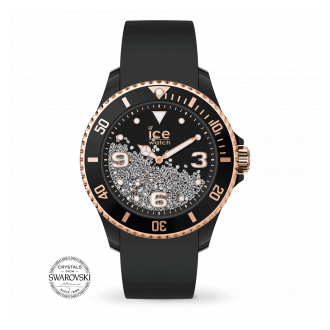 ice watch Ice Crystal U Smooth Black Rose-Gold