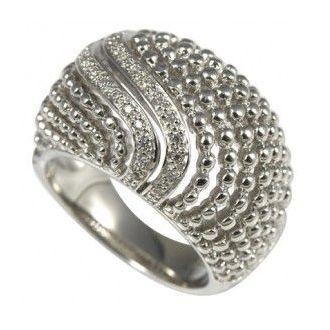 Cai D-Ring 925 Silber Weiss