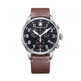 Aerowatch Classiques Pilot schwarz