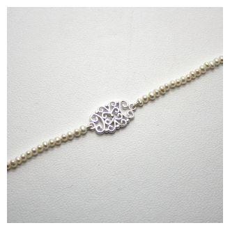Perlenzauber Perlenbracelet Filigran Oval