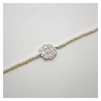 Perlenzauber Perlenbracelet Filigran Blume