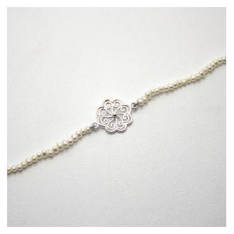 Perlenzauber Perlenbracelet Blume