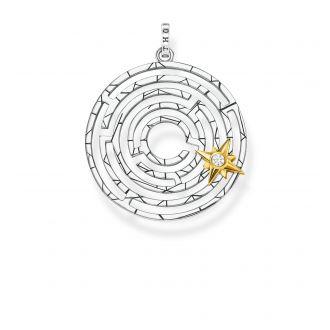 Thomas Sabo Anhänger Labyrinth mit goldenem Stern