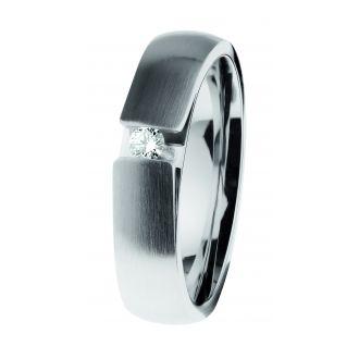 veto Solitär Diamant Stahl