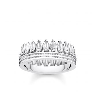 Thomas Sabo D-Ring Krone Blätter Silber