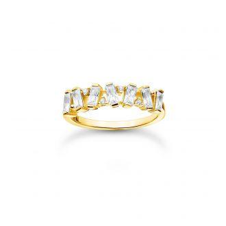 Thomas Sabo Ring Weisse Steine Gold