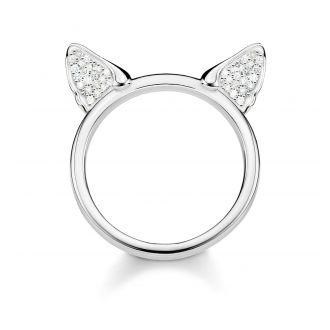 Thomas Sabo Ring Katzenohren Silber