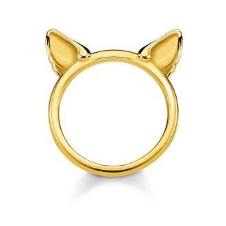 Thomas Sabo Ring Katzenohren Vergoldet